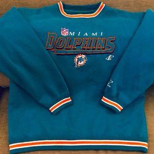 Vintage Miami Dolphins Varsity-Style Sweatshirt